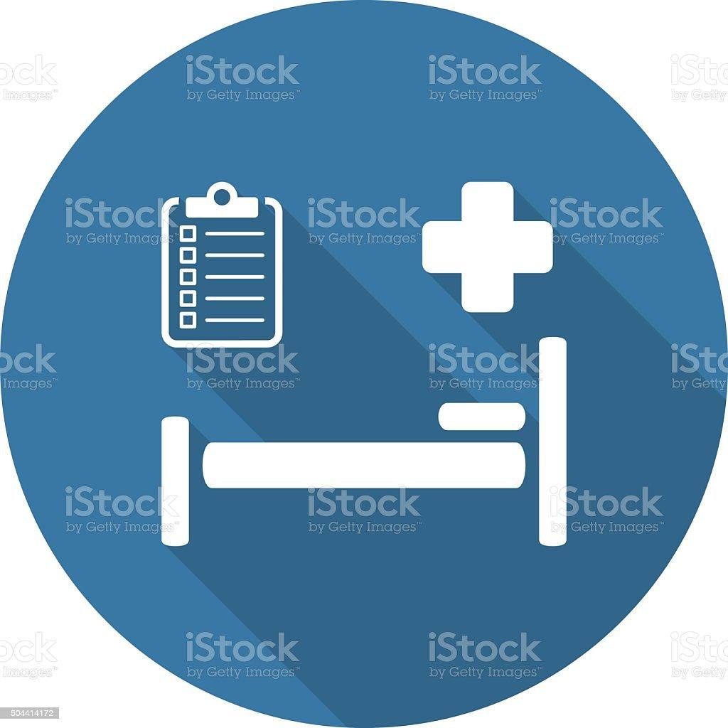 Hospital Care Icon. Flat Design. vector art illustration
