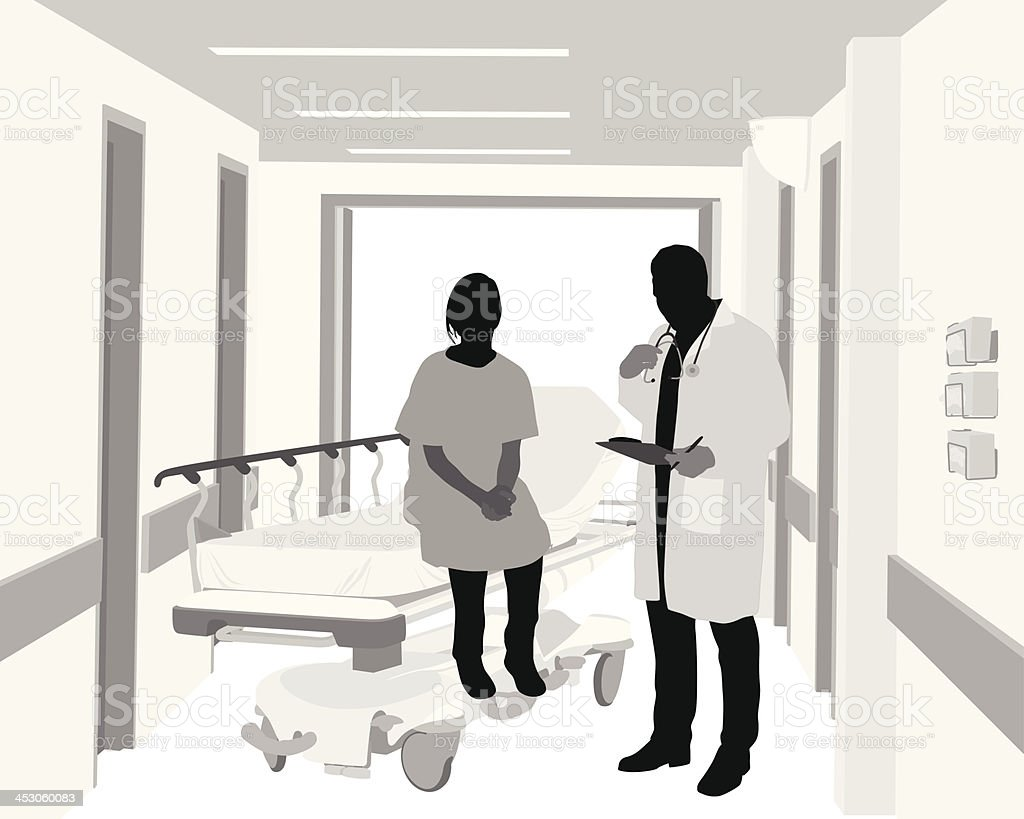 Hospital Care royalty-free stock vector art