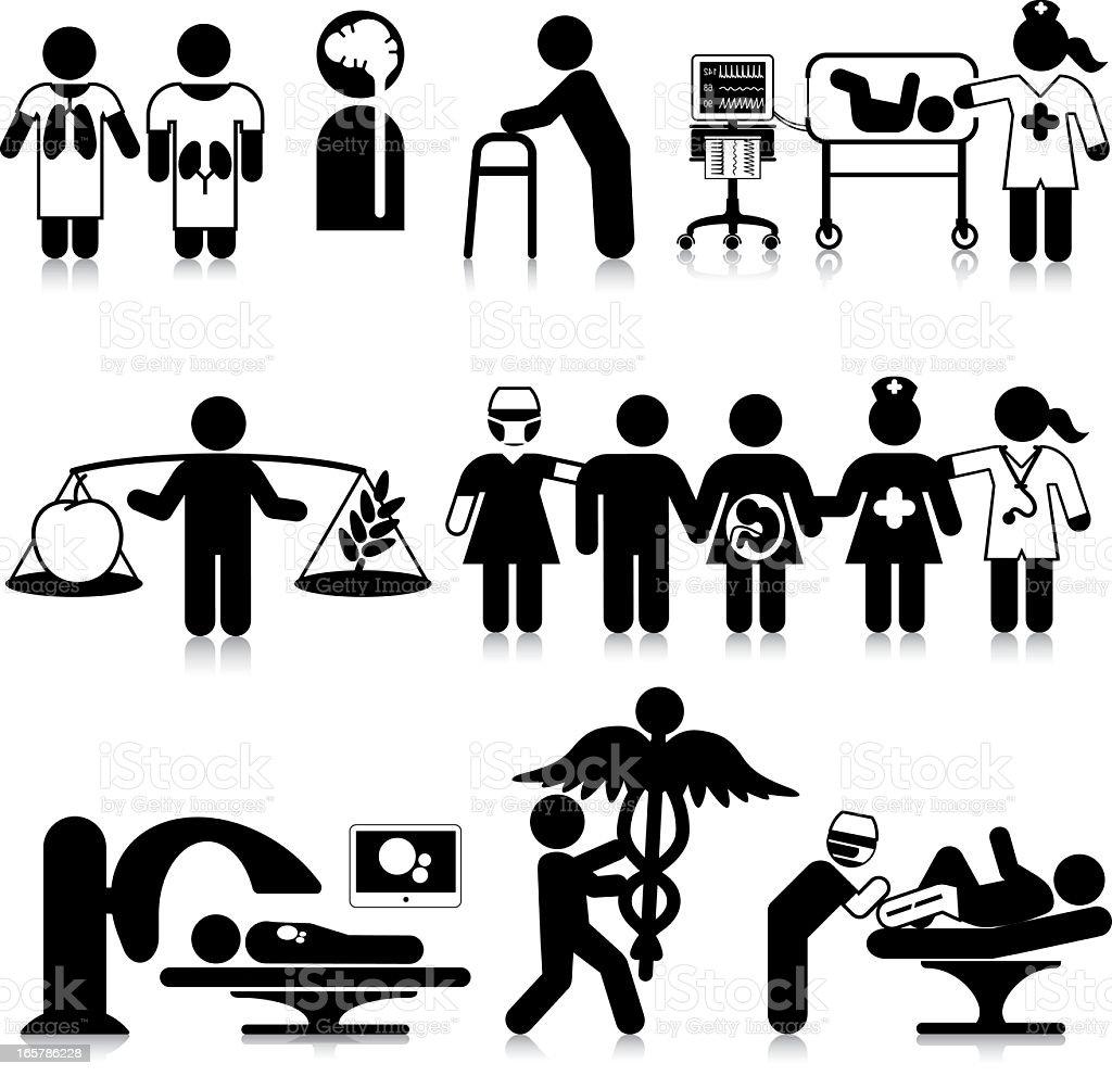 Hospital Departments (N to O) vector art illustration