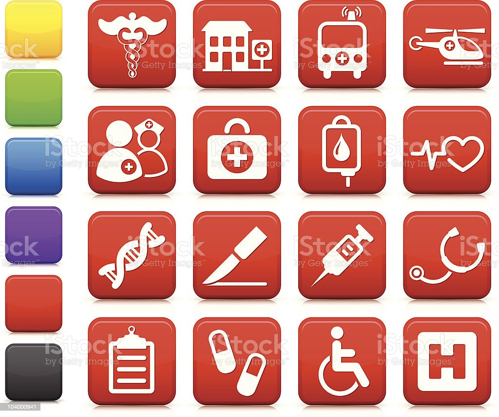 hospital icon collection vector art illustration
