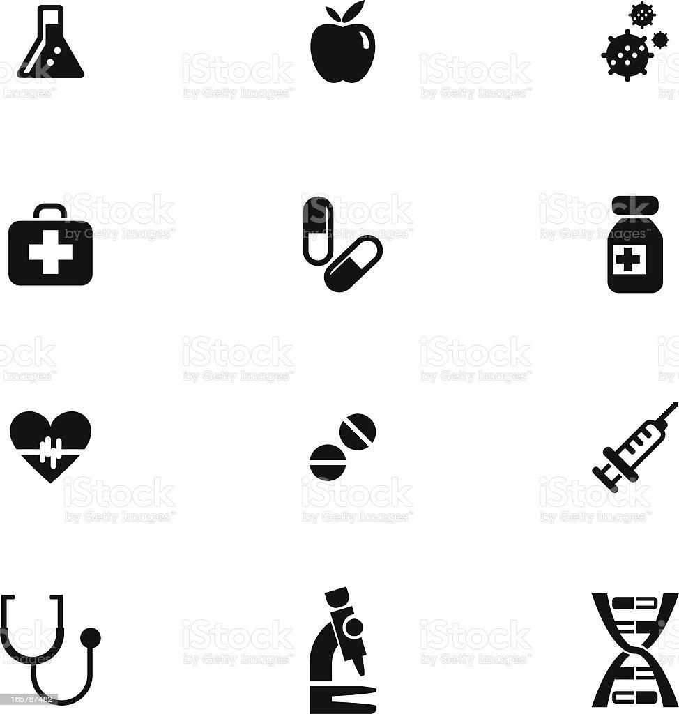 Hospital Icon Set royalty-free stock vector art