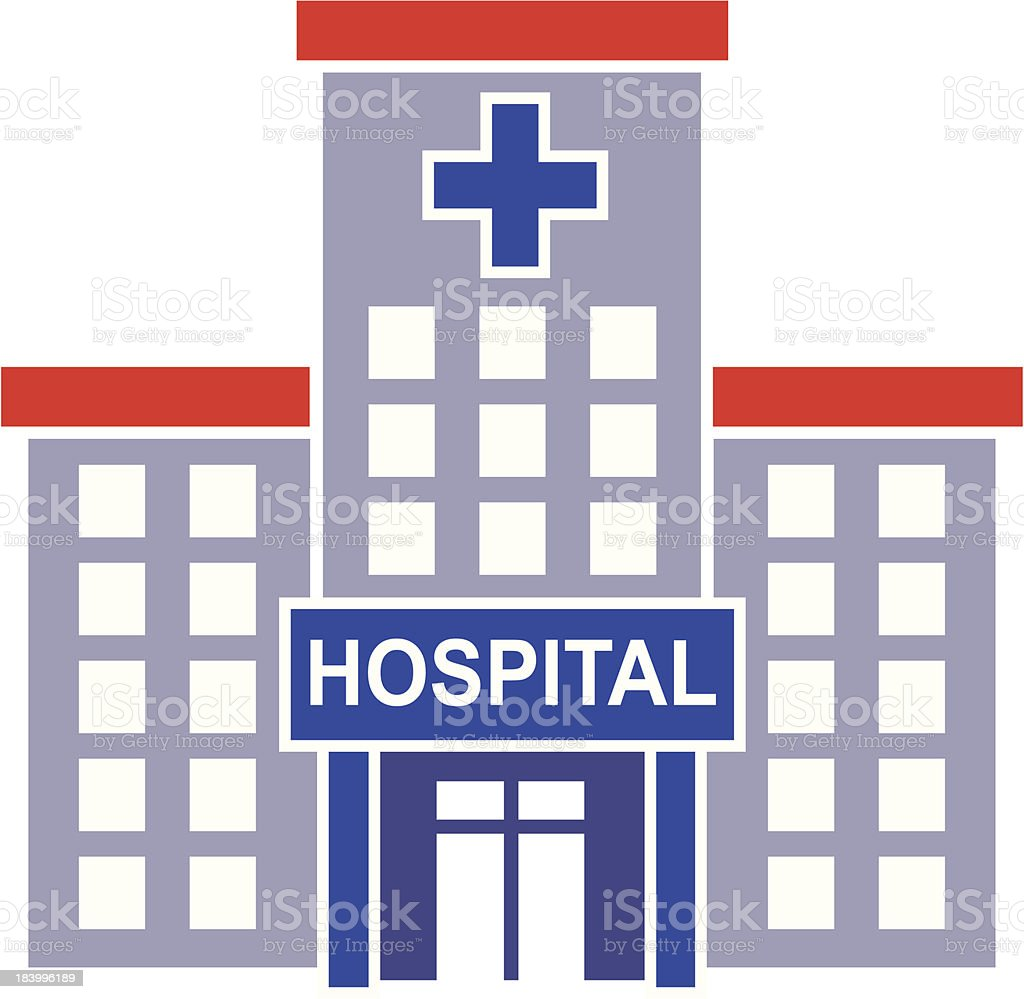 hospital icon vector art illustration