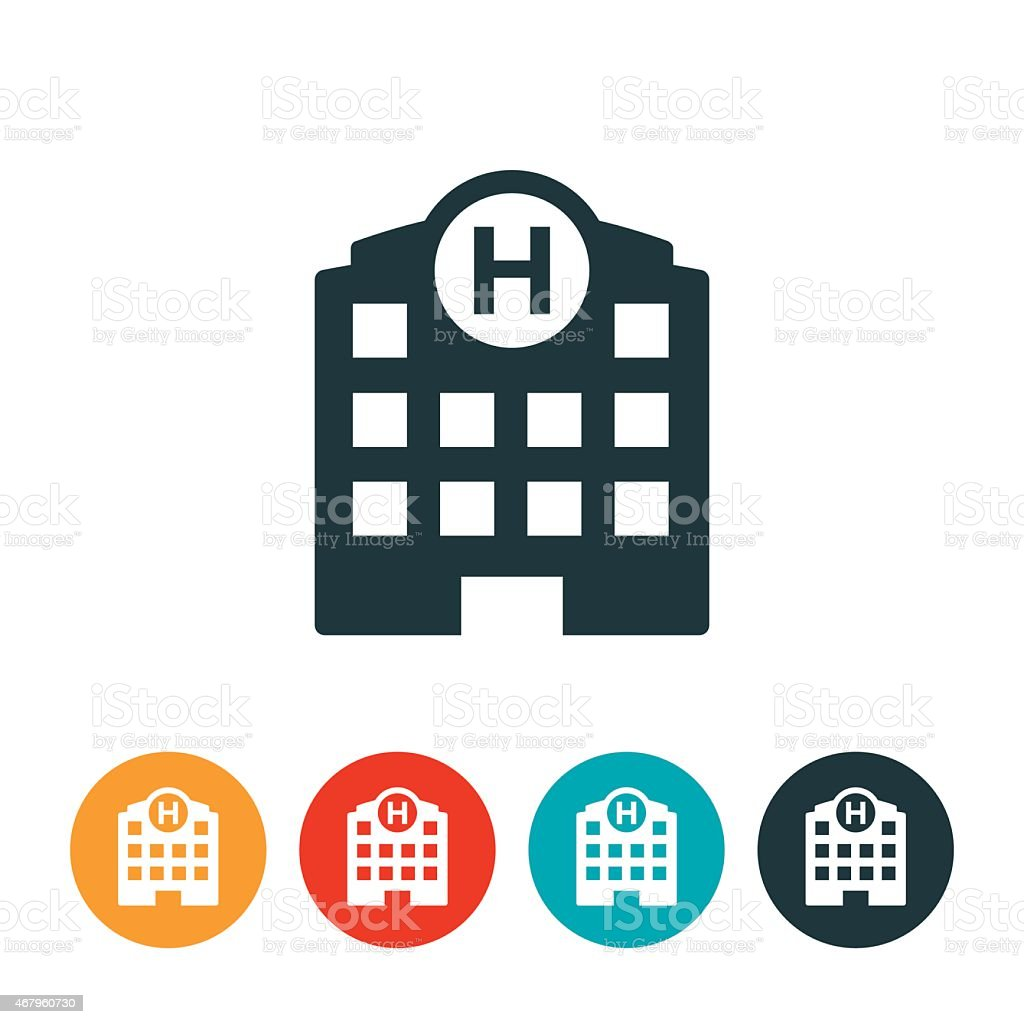Hospital Icon vector art illustration