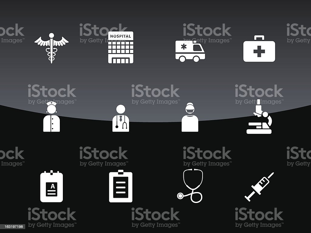 Hospital icons | Glass Style royalty-free stock vector art