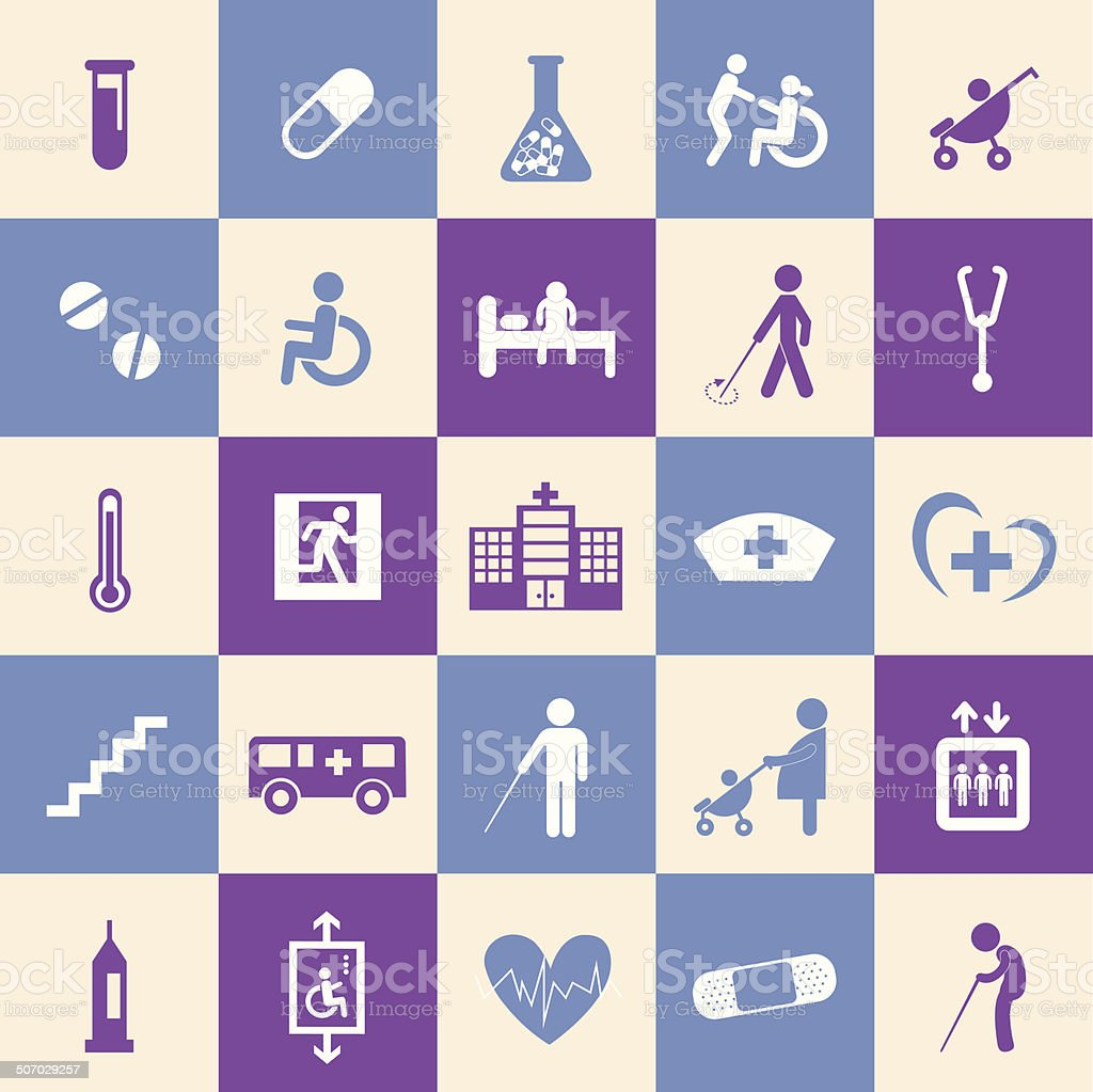 hospital icons set royalty-free stock vector art