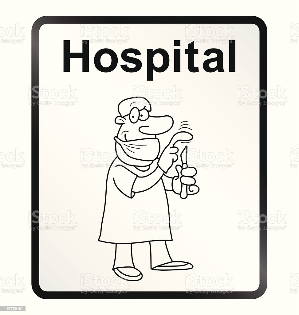 Hospital Information Sign royalty-free stock vector art