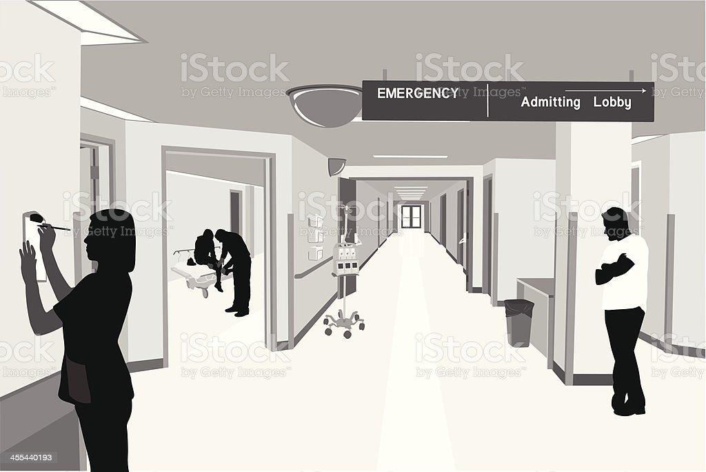 Hospital Lives royalty-free stock vector art