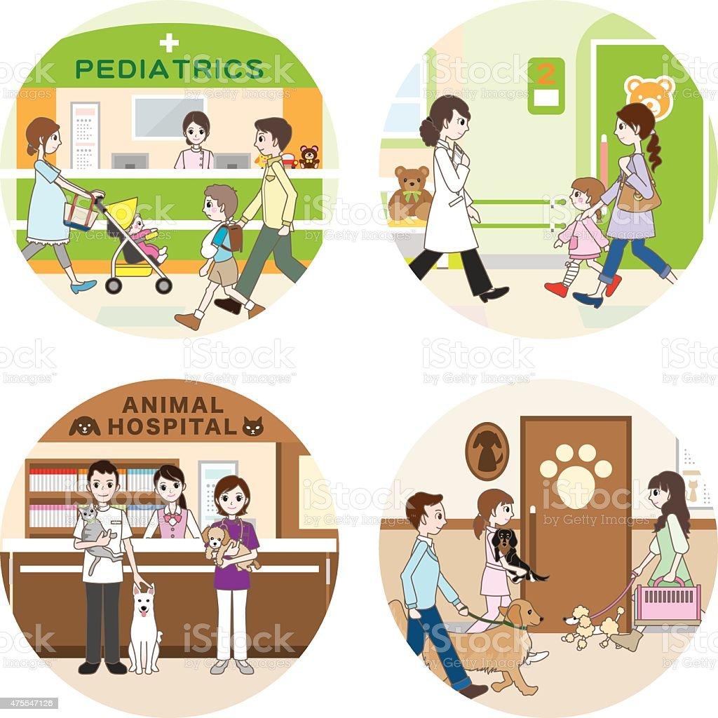 Hospital / Medical care vector art illustration