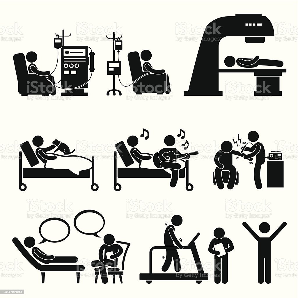 Hospital Medical Therapy Treatment Cliparts vector art illustration