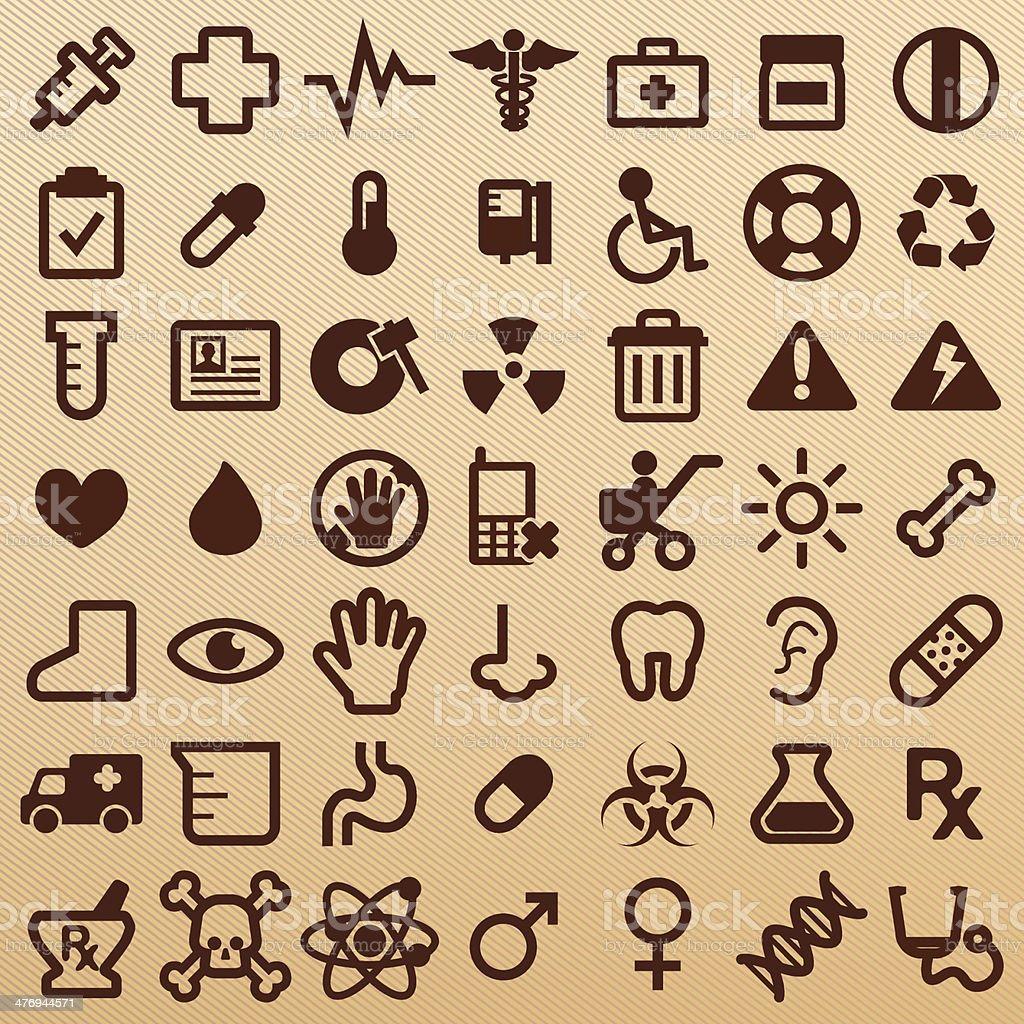 Hospital symbols royalty-free stock vector art
