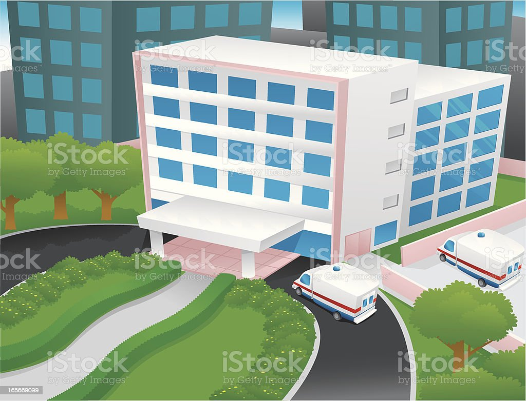 Hospital royalty-free stock vector art