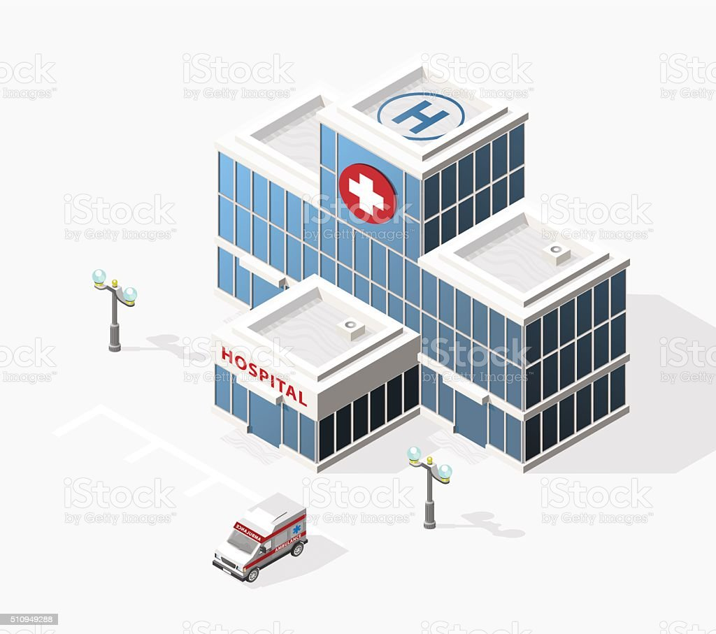 Hospital. vector art illustration