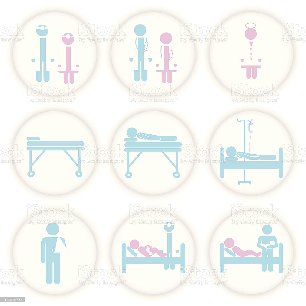 hospital_bluepink royalty-free stock vector art