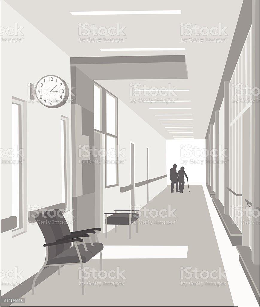 HospitalInterior vector art illustration