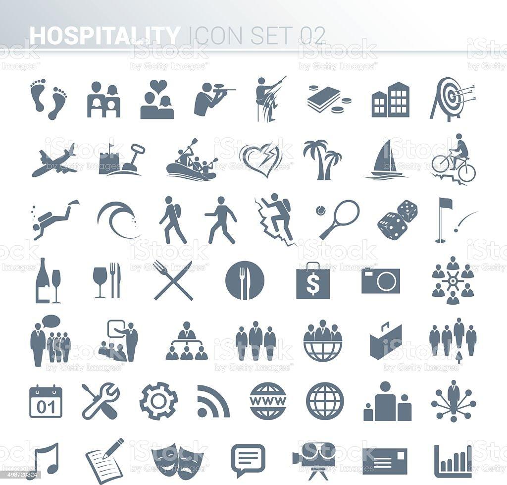 Hospitality activity icons vector art illustration