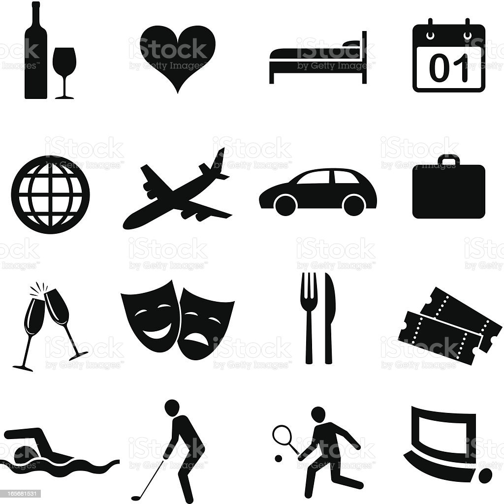 Hospitality icons royalty-free stock vector art