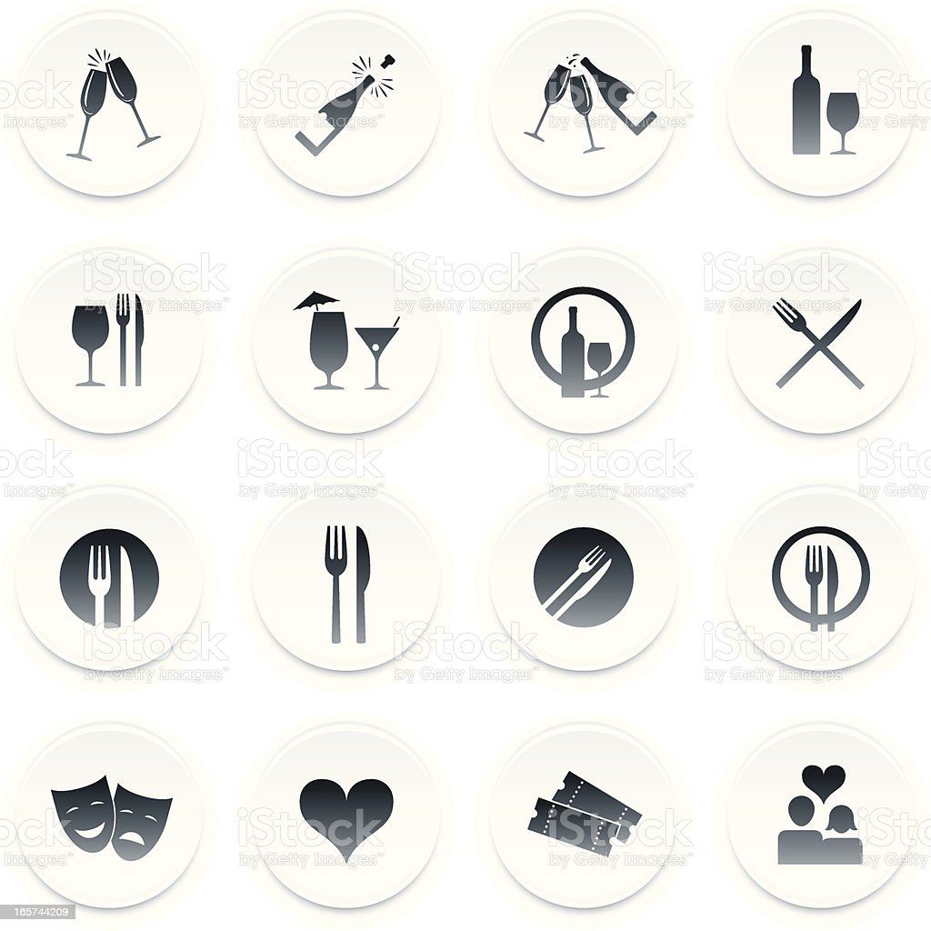 Hospitality/dining icons vector art illustration