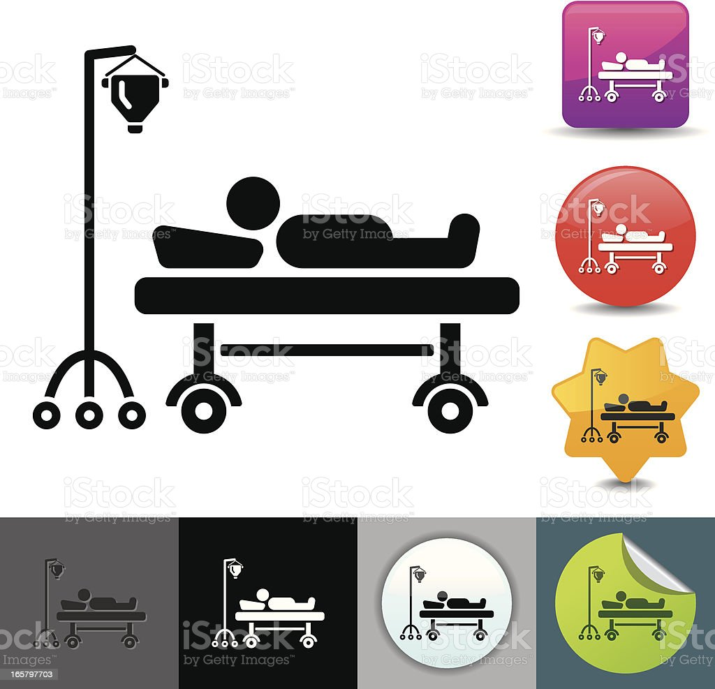 Hospitalization icon | solicosi series vector art illustration