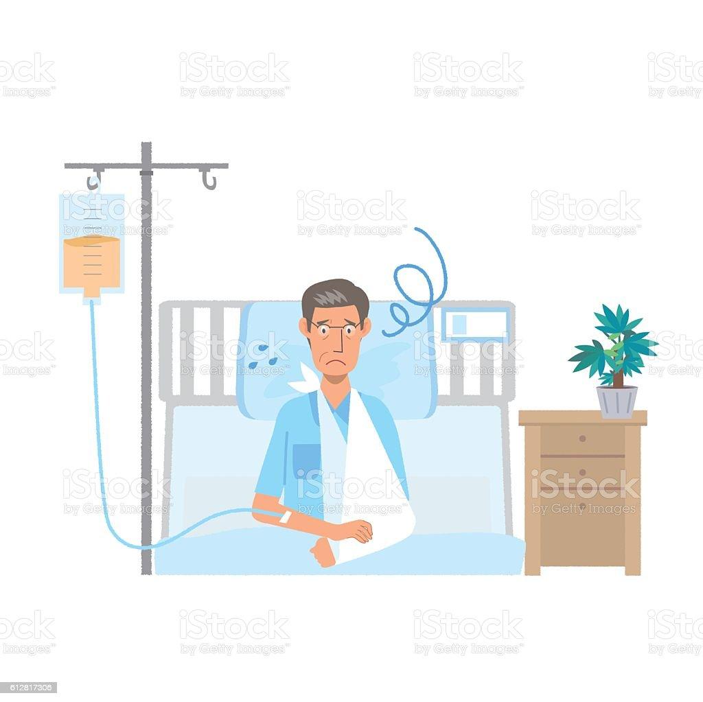 hospitalization vector art illustration