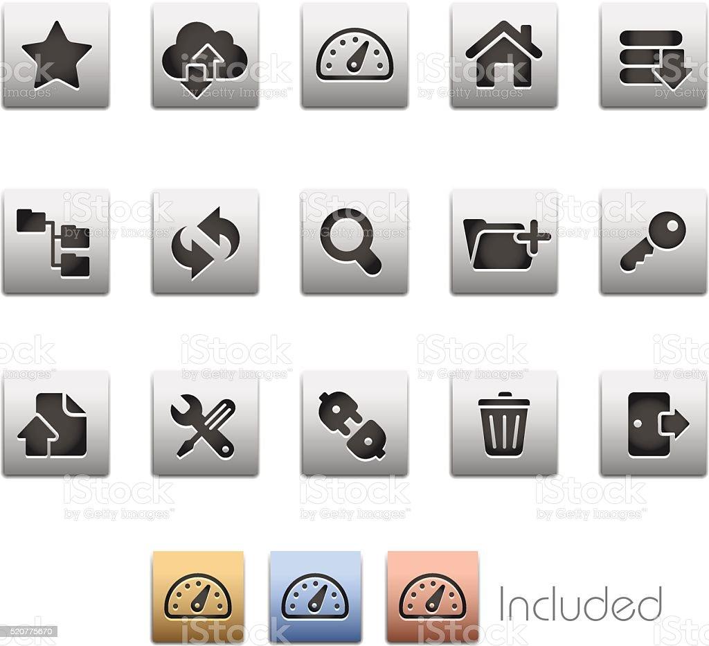 FTP & Hosting Icons - Metalbox Series vector art illustration