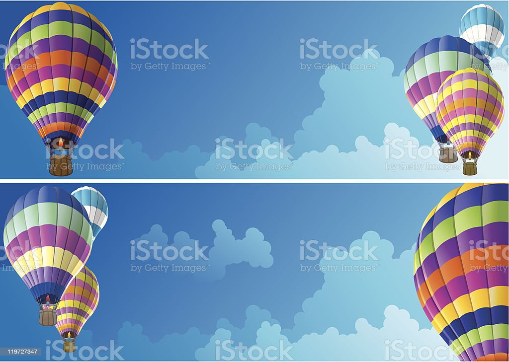 Hot Air Balloon Banner royalty-free stock vector art