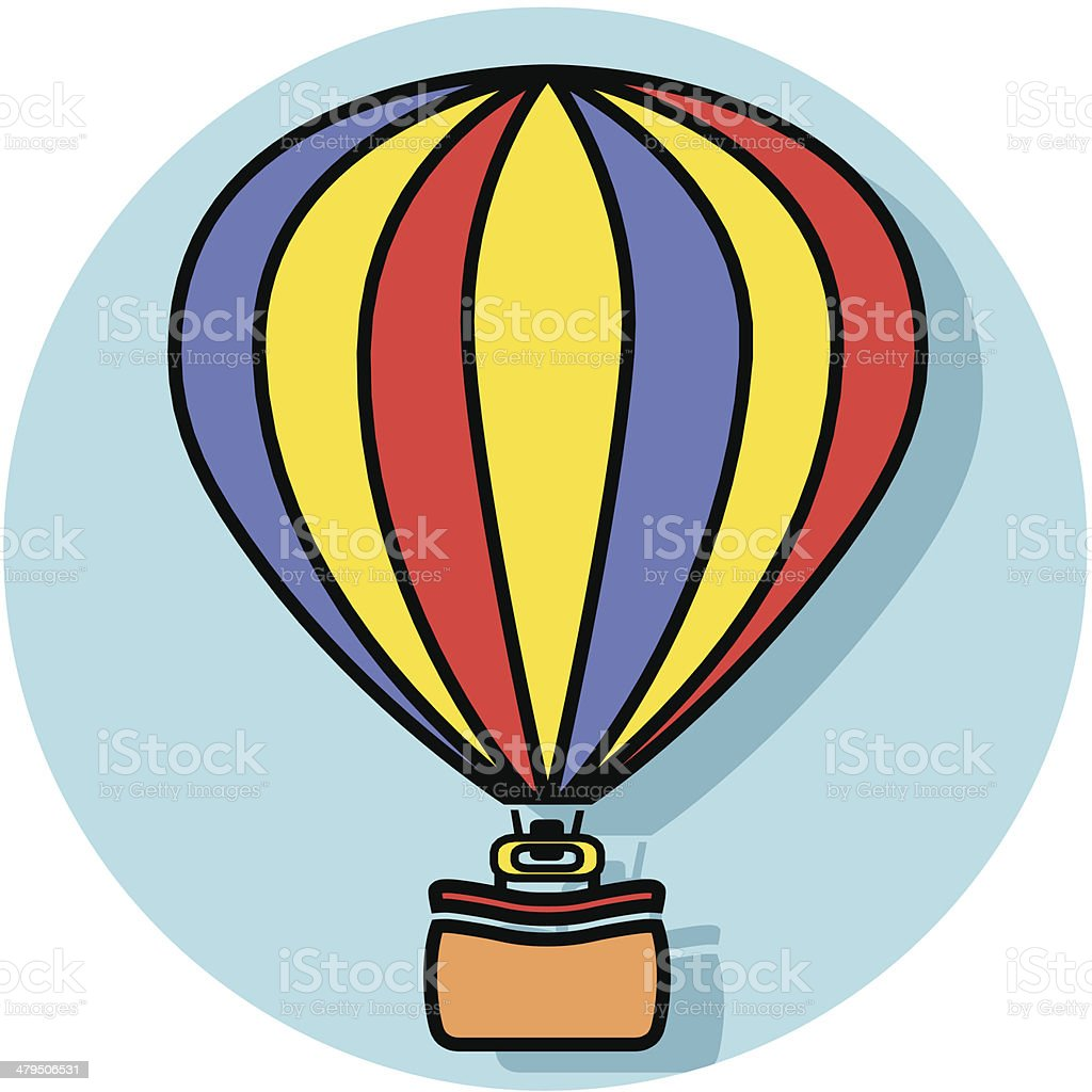 hot air balloon icon royalty-free stock vector art