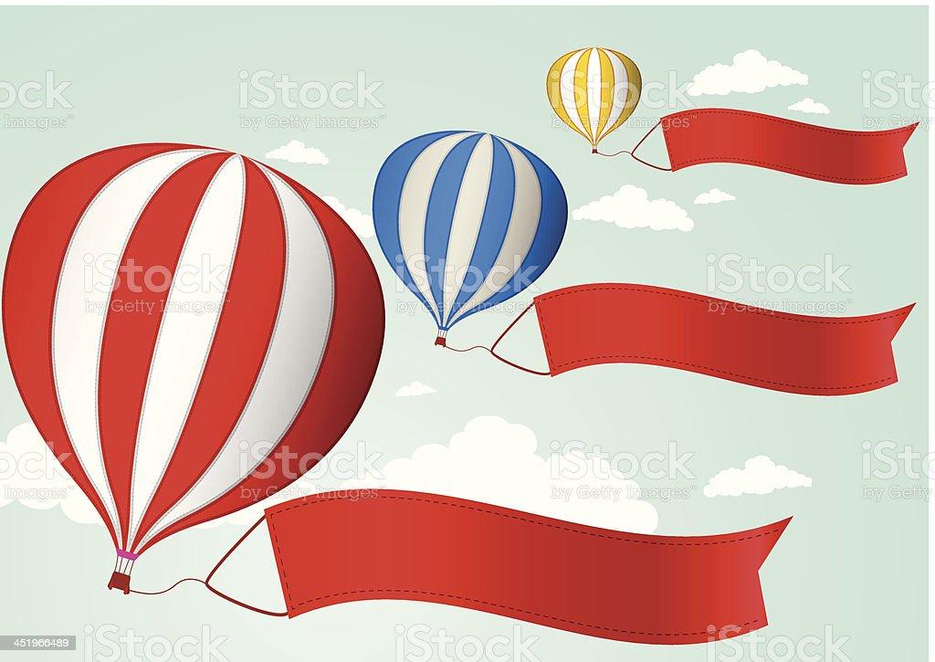 Hot air balloon in the sky royalty-free stock vector art
