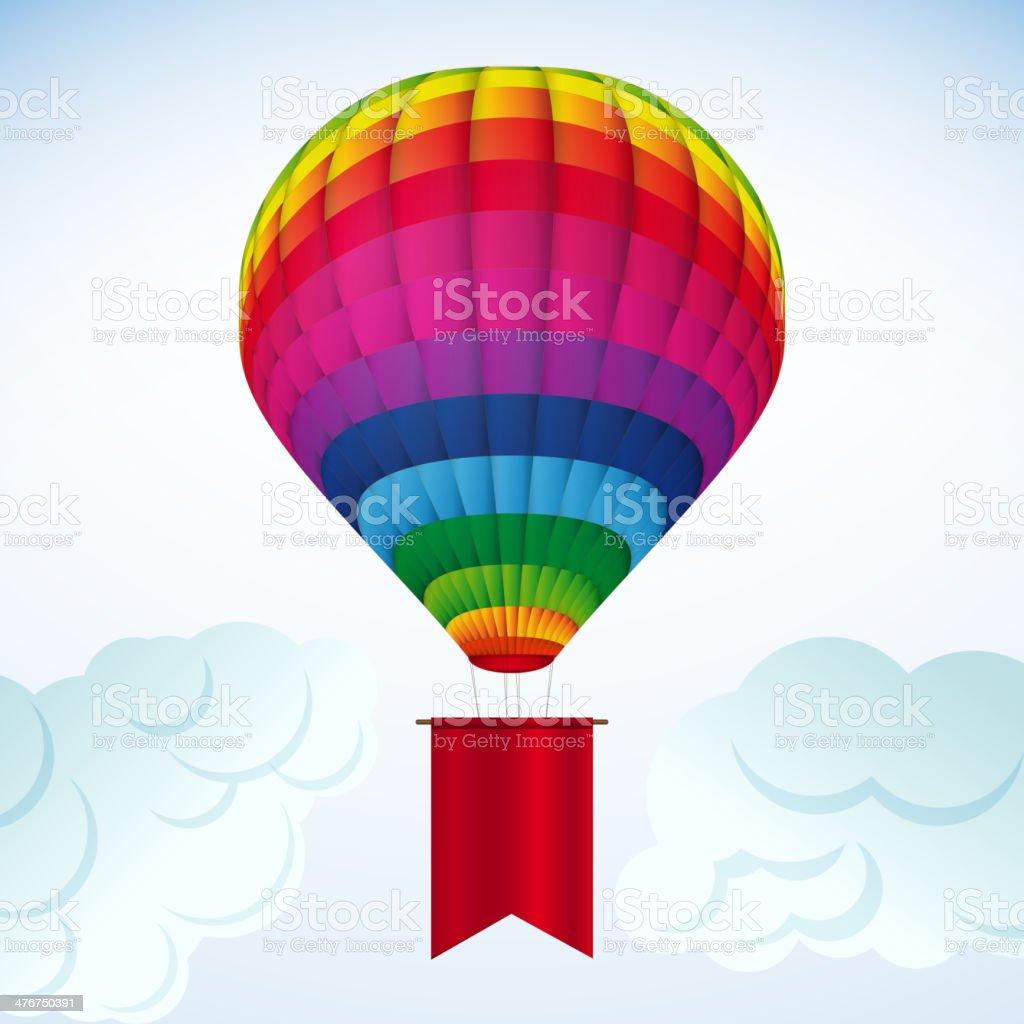 Hot Air Balloon royalty-free stock vector art