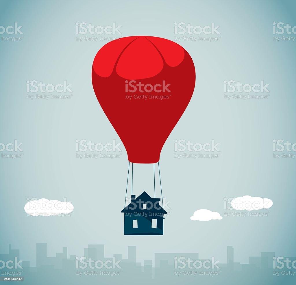 Hot Air Balloon vector art illustration