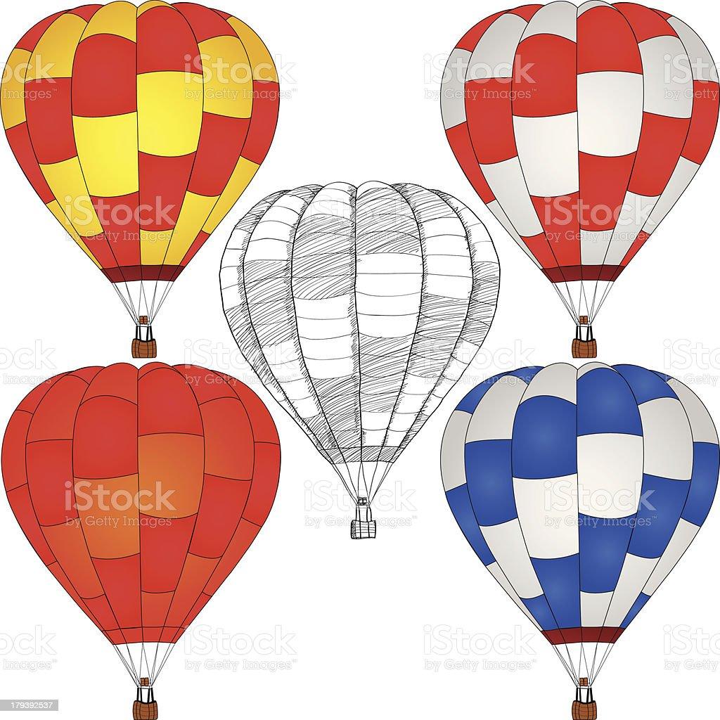 Hot Air Balloon Vector. royalty-free stock vector art