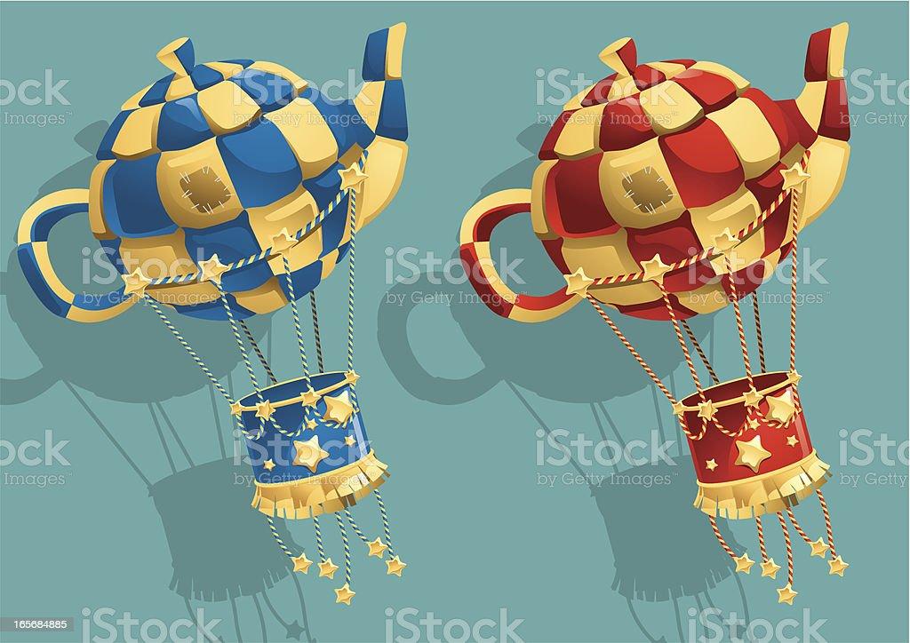 Hot Air Balloons royalty-free stock vector art