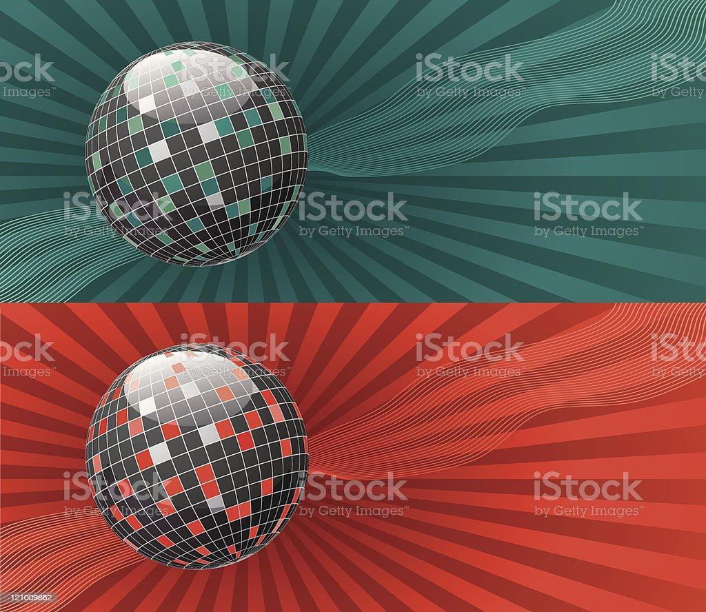 Hot and cold balls royalty-free stock vector art