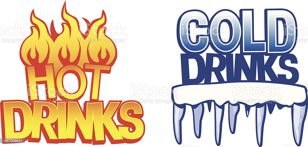 Hot and Cold Drinks vector art illustration