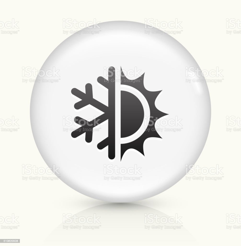 Hot and Cold icon on white round vector button vector art illustration