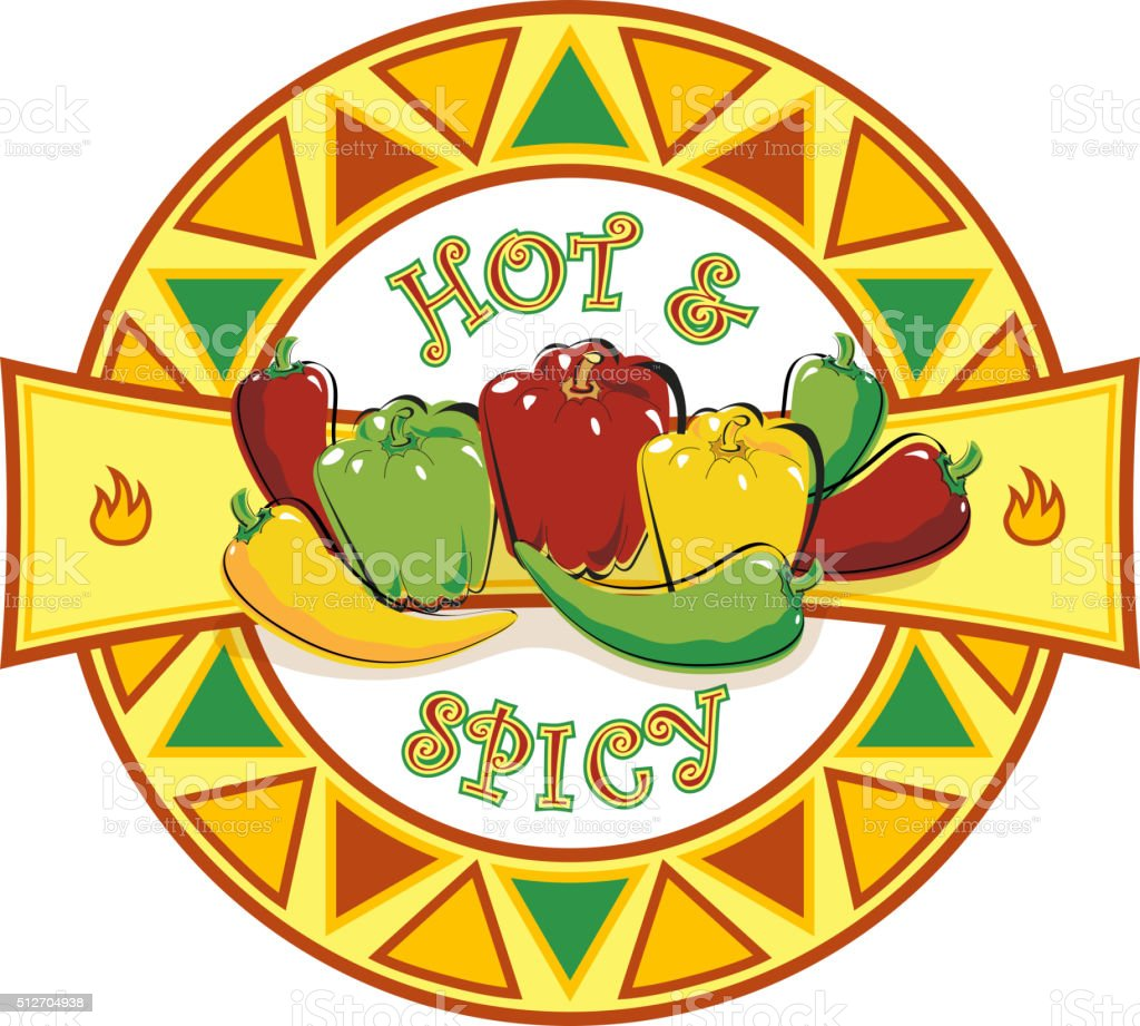 Hot and Spicy Symbol vector art illustration