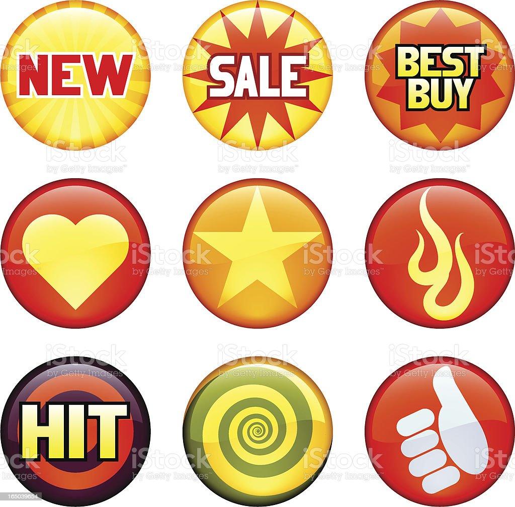 hot badges royalty-free stock vector art