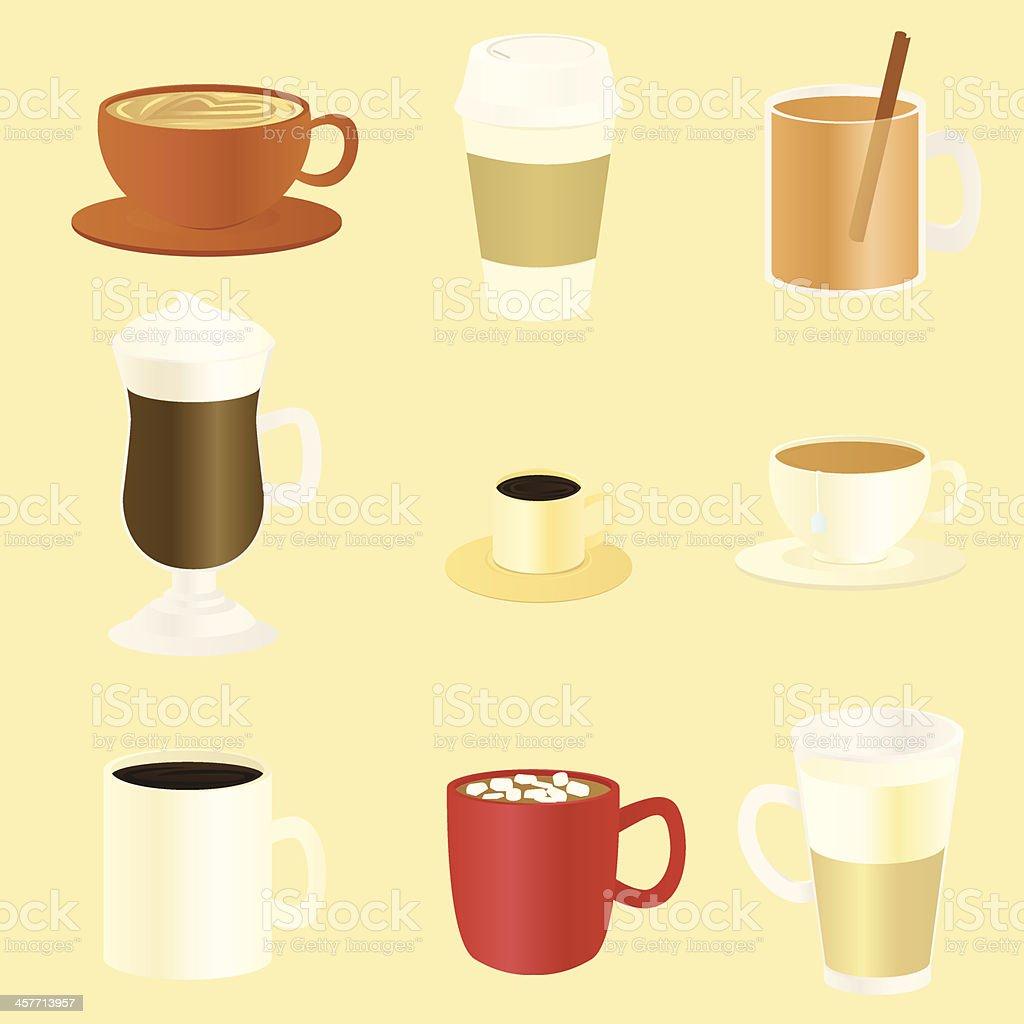 Hot Beverages vector art illustration