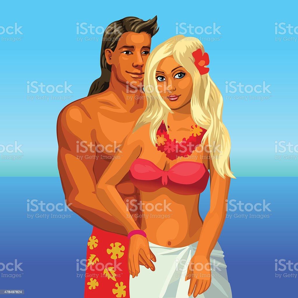 Hot-Bikini – hot-bikini-couple-on-the-beach-vector-illustration-vector-id478497824