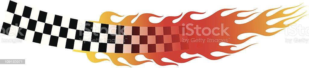 hot checkers vector art illustration