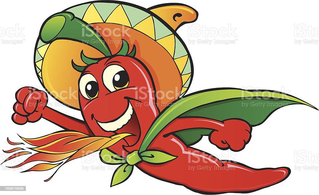 Hot chili pepper royalty-free stock vector art