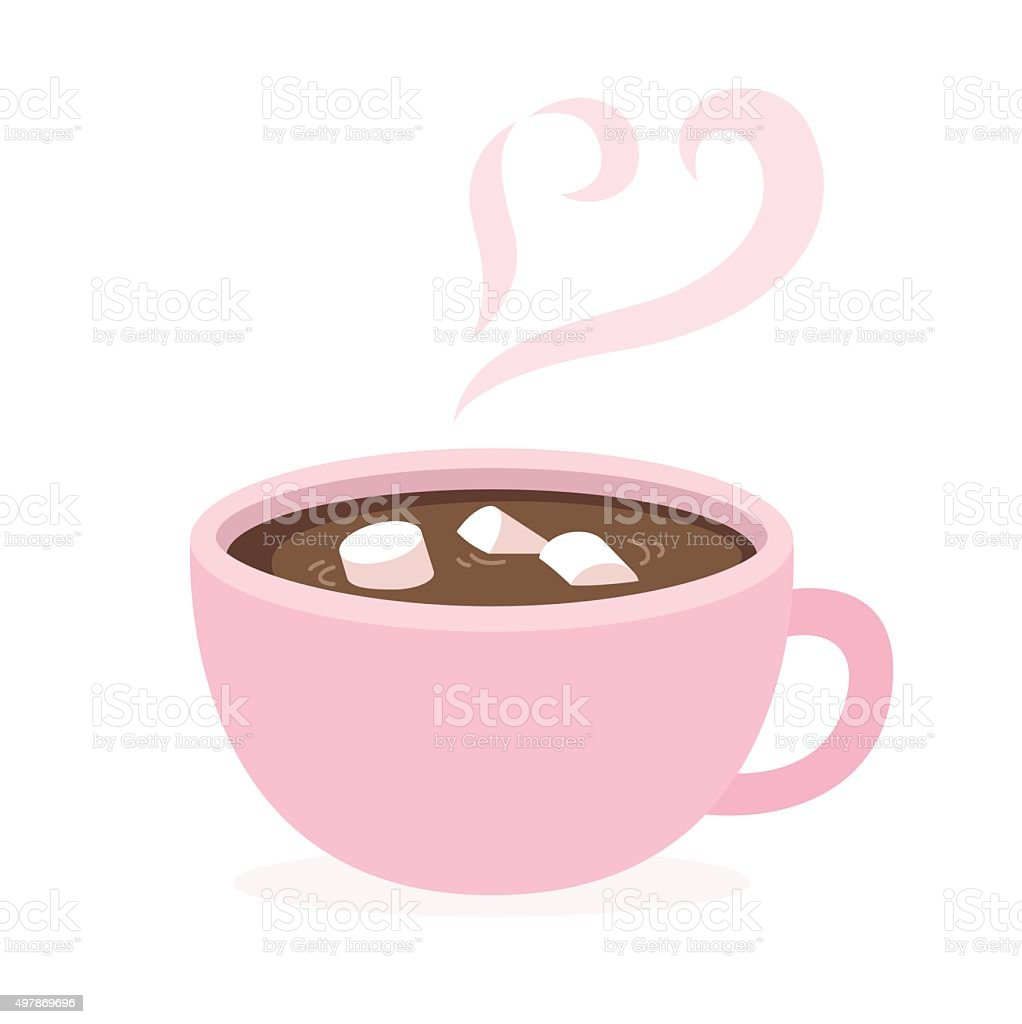 hot chocolate cup vector art illustration