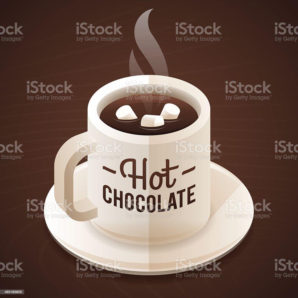 Hot Chocolate vector art illustration