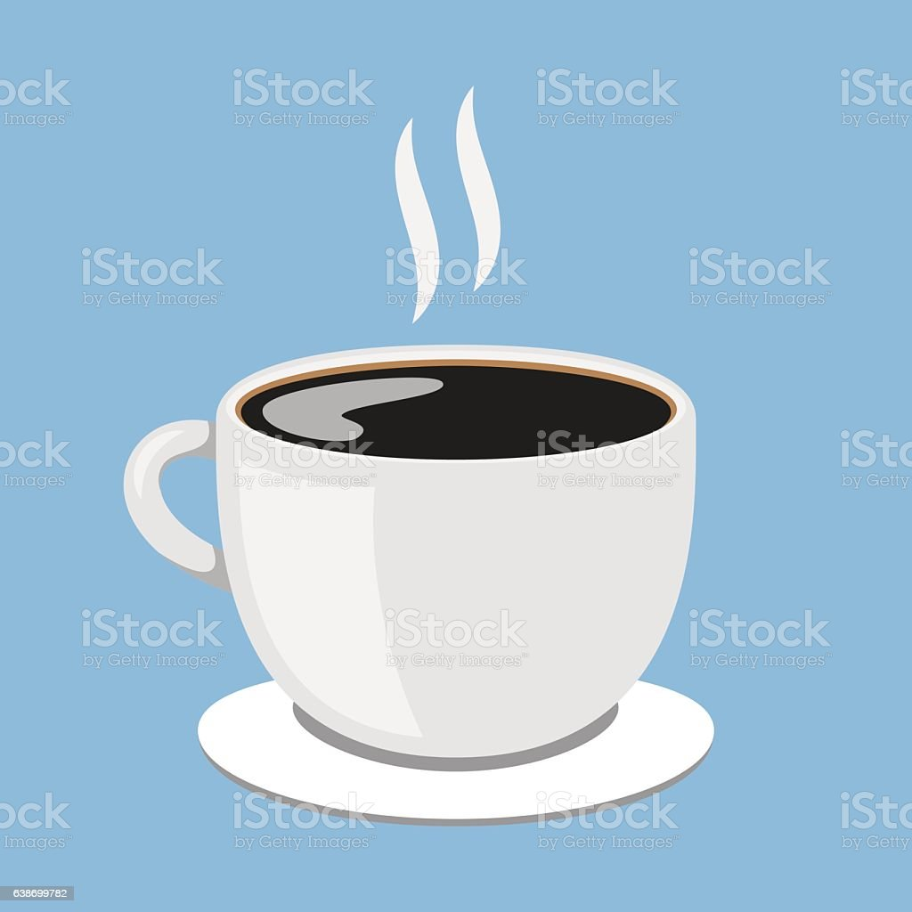Hot Coffee Cup vector art illustration
