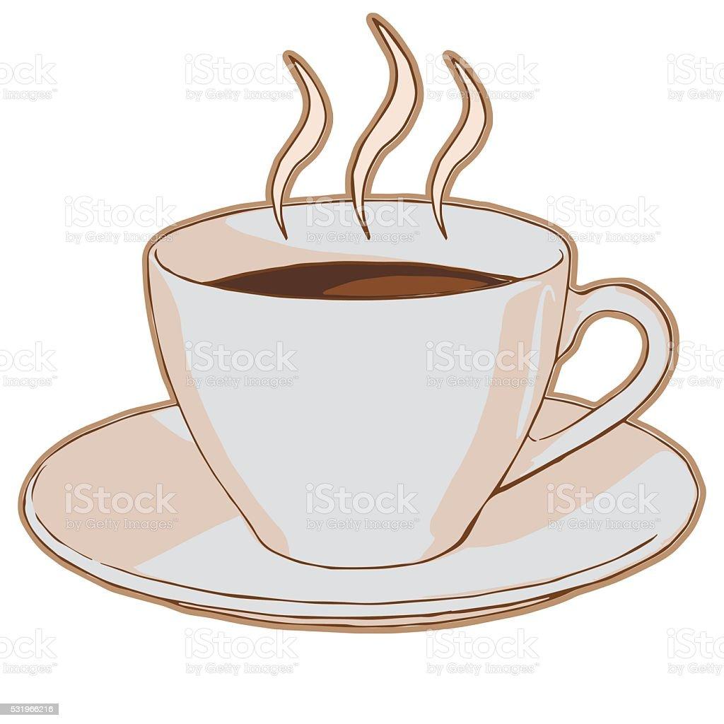 Café dans une tasse stock vecteur libres de droits libre de droits