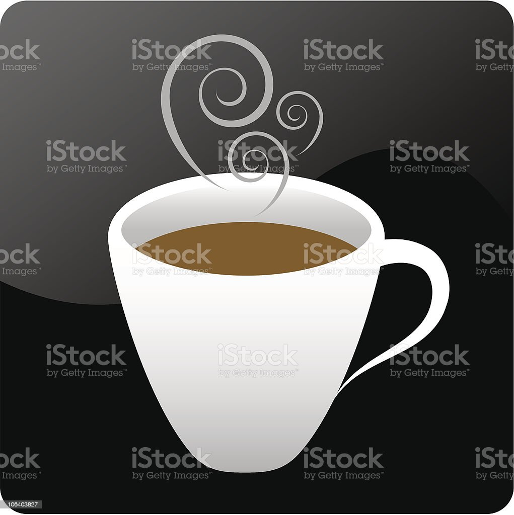 Hot Coffee vector art illustration