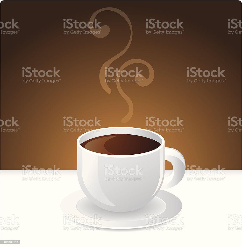 Hot Coffee royalty-free stock vector art