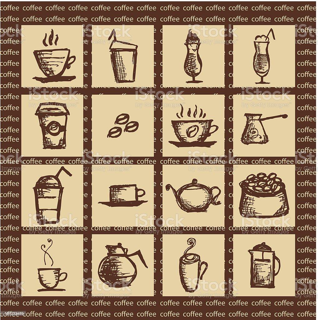 Hot coffee royalty-free stock vector art