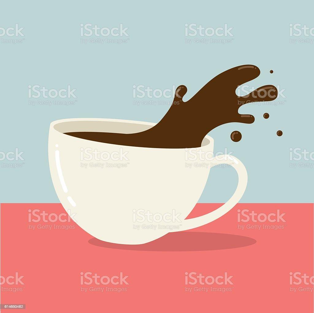 Hot coffee vector art illustration