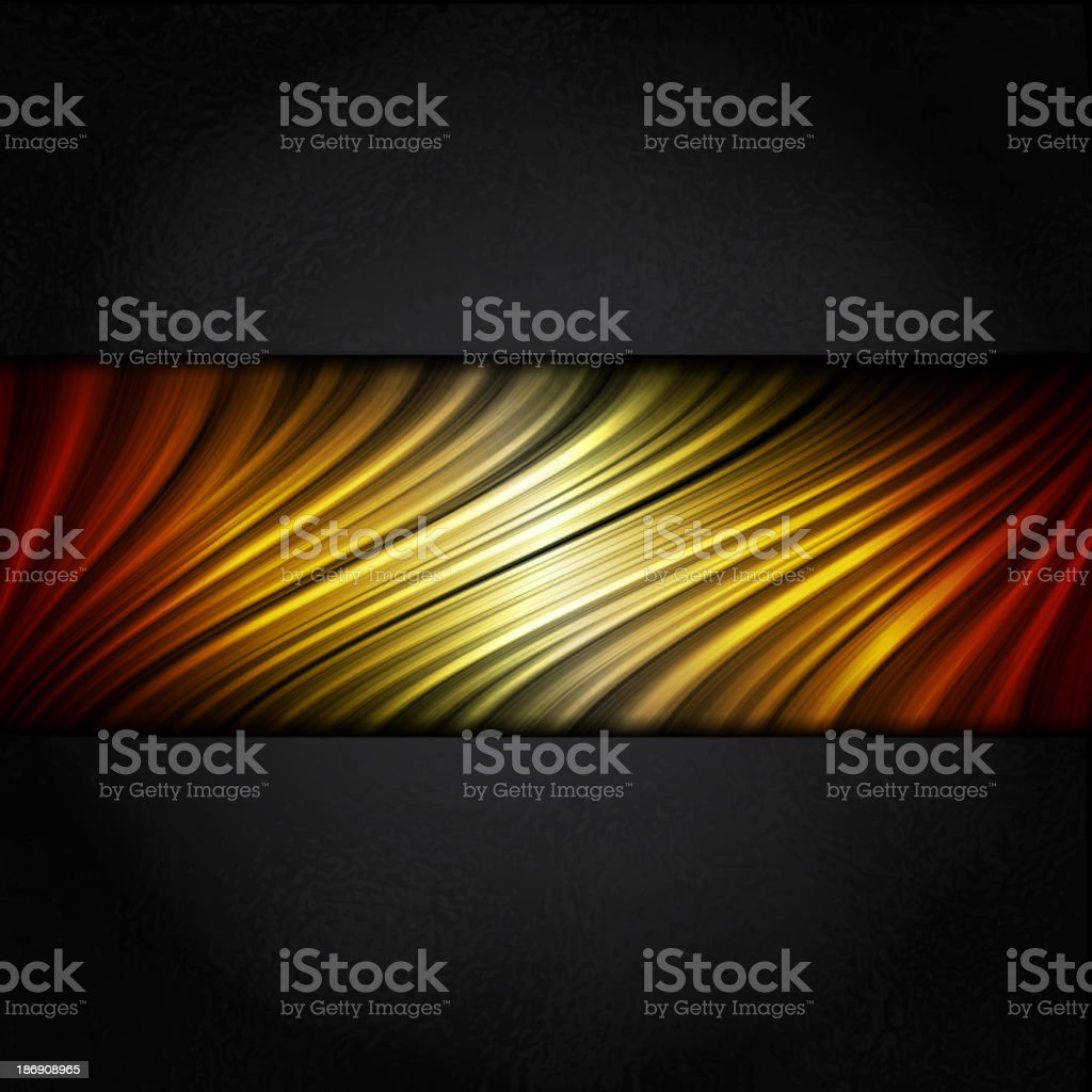 Hot Colors Stripes Background with Black Frame royalty-free stock vector art