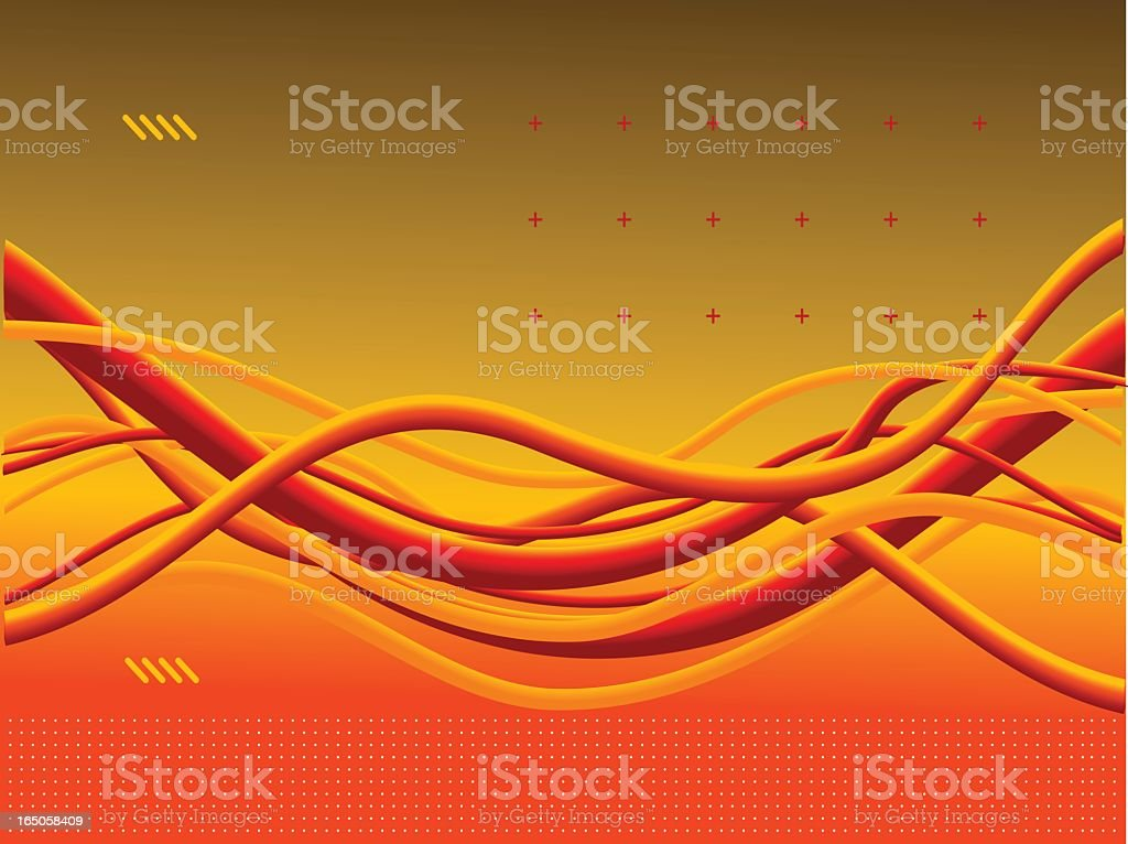 Hot coloured cables royalty-free stock vector art